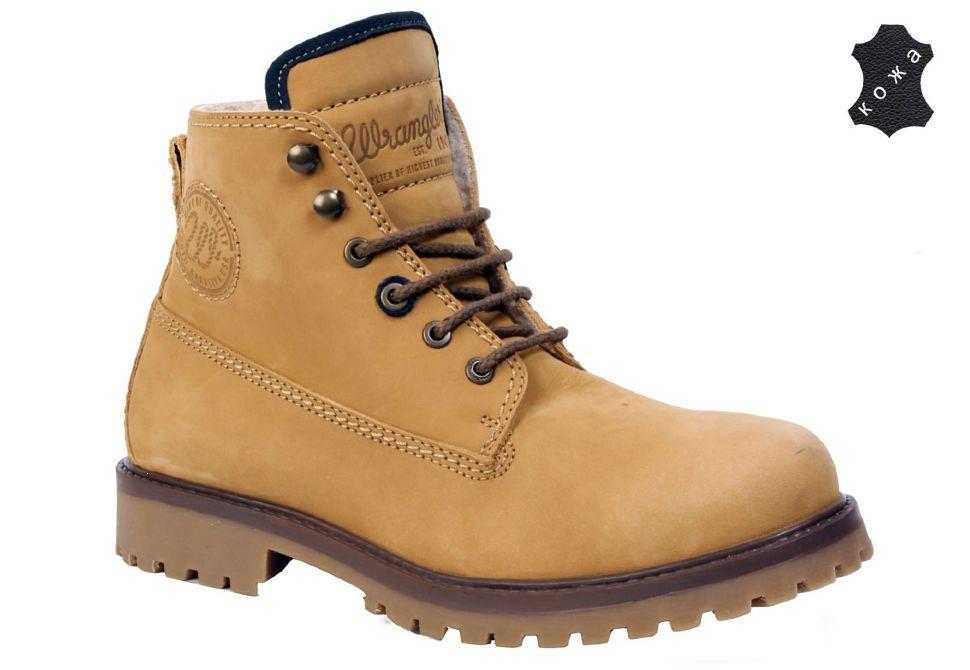 c8c868b1 Зимние мужские ботинки Wrangler Yuma Ankle Boot WM132102-24 светло- коричневые