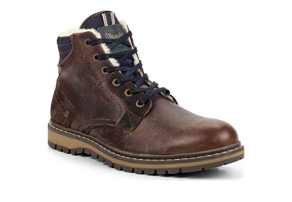 648e36c2 Зимние мужские ботинки Wrangler Miwouk Fur S WM182033-30 коричневые ...