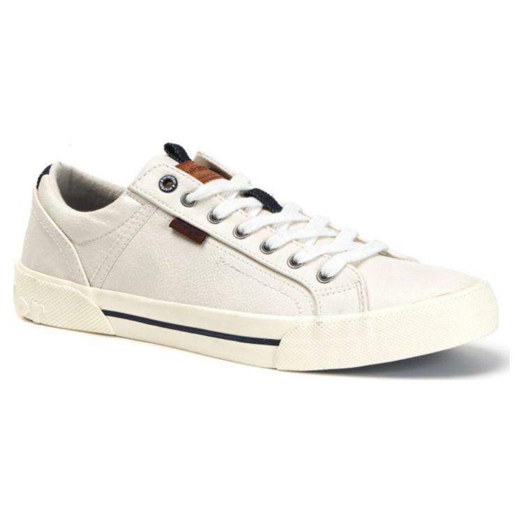 Кеды мужские Wrangler Globe Vegan WM01055A-051 кожаные белые купить по цене 4 500 руб. в магазине