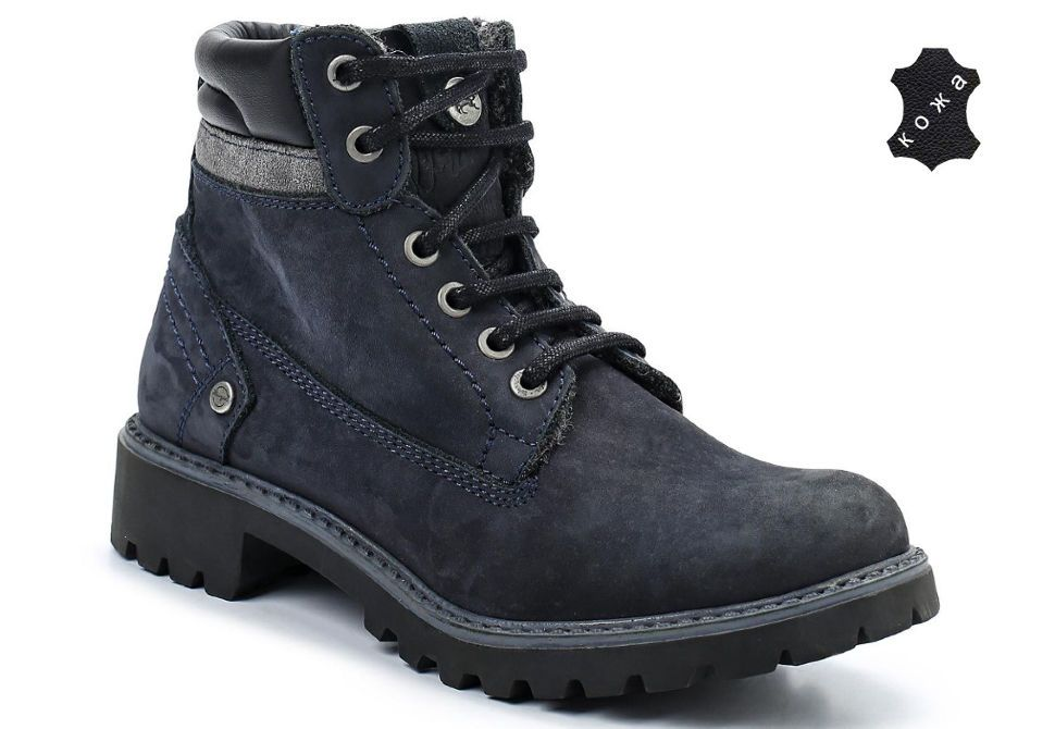 df845fb8 Зимние женские ботинки Wrangler Yuma Line Creek Fur Nubuck WL142500/F-17  синие