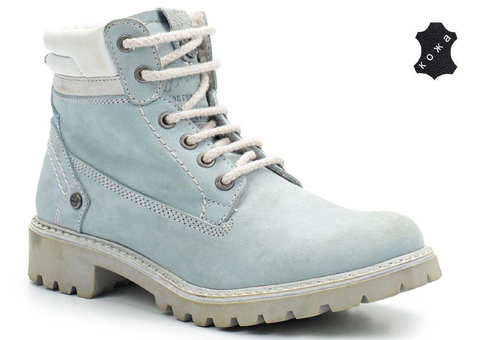 5430de33 Зимние женские ботинки Wrangler Yuma Line Creek Fur Nubuck WL142500/F-12  голубые